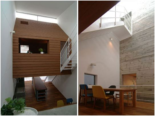Maison design entre 2 immeubles tokyo construction for Decoration contemporaine interieur