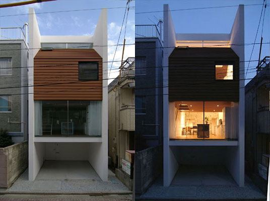 Maison design entre 2 immeubles tokyo construction - Maison originale vietnam mm architectes ...