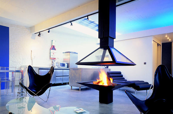 les plus belles chemin es contemporaines construction. Black Bedroom Furniture Sets. Home Design Ideas