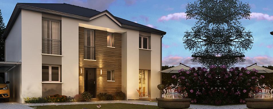 Construire une maison à étage design